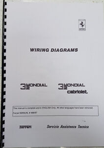 ferrari 3 2 mondial cabriolet 488 87 wiring diagrams reprinted ebay rh ebay co uk ferrari 360 wiring diagrams