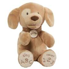 Gund Spunky The Singing Tan Dog ABC/123 Songs Soft Toy New With Tags 4059066