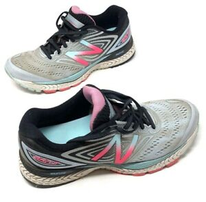 New-Balance-Women-039-s-Size-9-Pink-Blue-Breathable-Performance-Running-Shoes-Mesh
