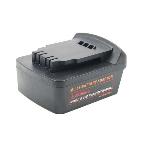 Adapter Converter For Milwaukee 18V Li-Ion Battery To Dewalt MAX 20V Li-Ion Tool