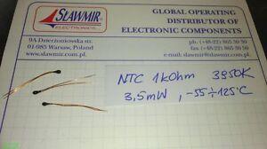 30-120C ±1/% NTC Thermistor 100kOhm THT 3950K 1 st
