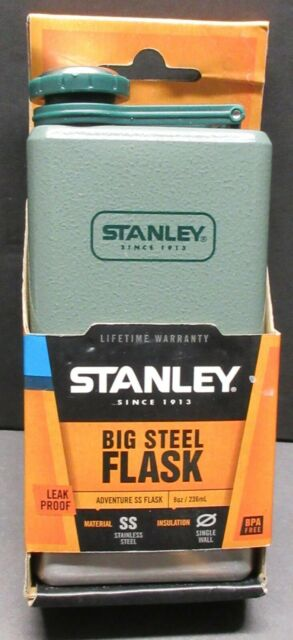 Stanley stainless steel Big Steel Flask / Leak proof / 8 oz - 236 ml / New!!