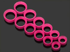12pcs Flexible Thin Silicone Hollow Ear Skin Flesh Tunnels Plugs Gauges Earlets