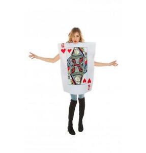 vendita più calda costruzione razionale offerte esclusive Dettagli su Costume carta da gioco Regina dama di Cuori