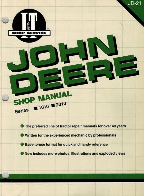 John Deere 1010 2010 Tractors I T Shop Manual Jd