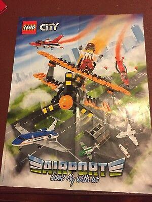 2019 Nuovo Stile Lego City Doppio Lato Poster Aeroporto/vulcano Esploratori. 2016.-