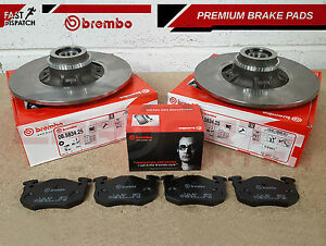 FOR-RENAULT-CLIO-2-0-SPORT-REAR-GENUINE-BREMBO-BRAKE-DISCS-PADS-ABS-BEARINGS