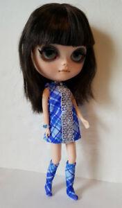 BLYTHE-DOLL-CLOTHES-Plaid-DRESS-BOOTS-amp-JEWELRY-HM-Fashion-NO-DOLL-dolls4emma