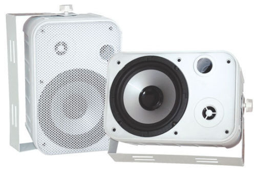 "Pair New Pyle PDWR50W 6.5/"" Indoor//Outdoor Waterproof Speakers White"