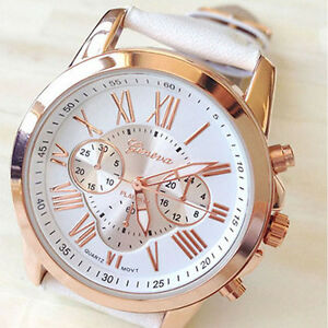 New-Women-039-s-Fashion-Roman-Numerals-Faux-Leather-Analog-Quartz-Wrist-Watch