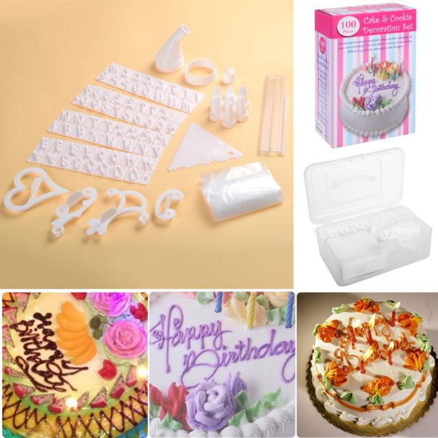 100 Piece Set Birthday Wedding Cake Cupcake Cookies Decorating Craft ...