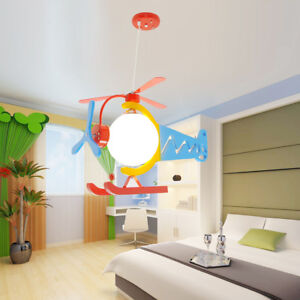 Details About Hanging Helicopter Lamp Ceiling Light Children Kids Room Lighting Chandelier