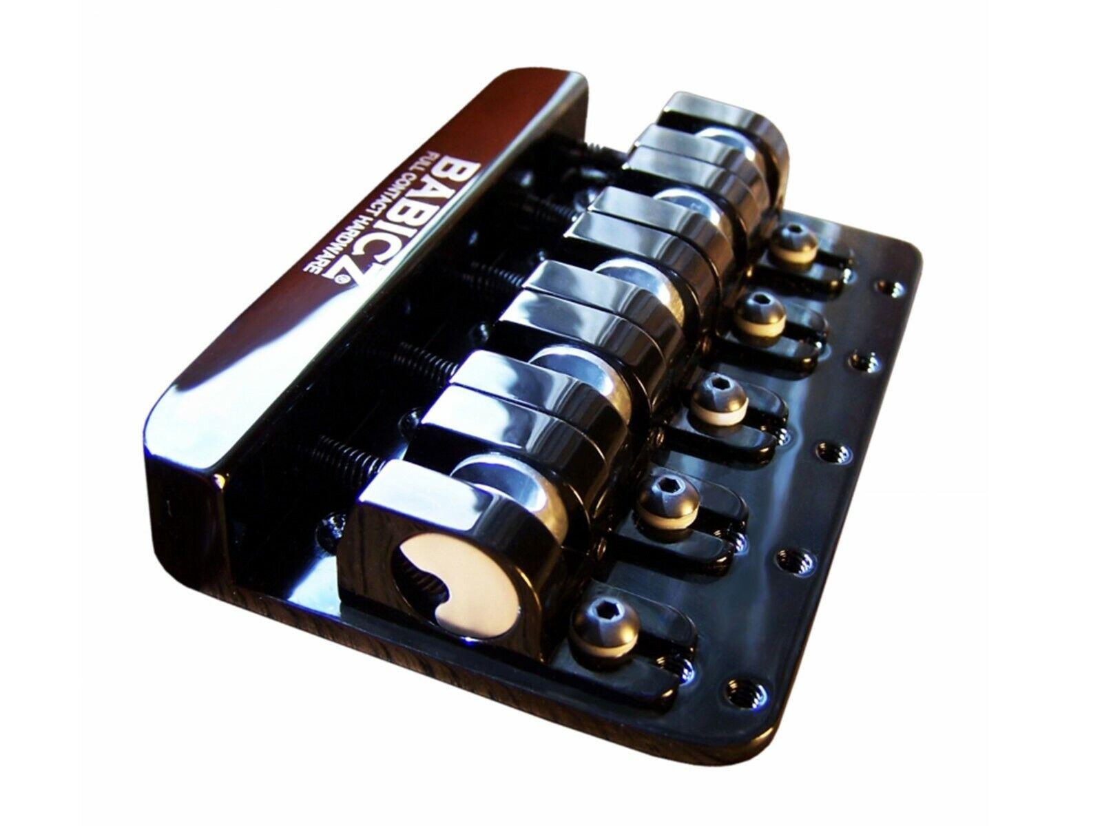 Babicz Full Contact Hardware FCH 5-String Bass Bridge - schwarz or Gold Finish