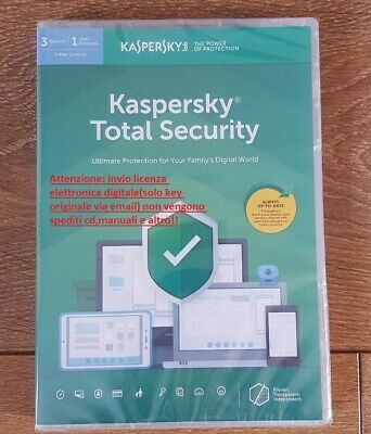pc/mac/android Motivated Antivirus Kaspersky Total Security 2019 3 Device 1 Anno Licenza