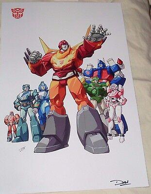 1986 G1 Transformers Hot Rod Arise Rodimus Prime Matrix Poster 11x17 FREESHP