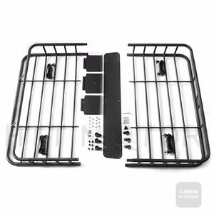 4b9f06c2c292 Details about Black Universal Roof Rack Cargo Car Top Luggage Holder  Carrier Basket Travel SUV