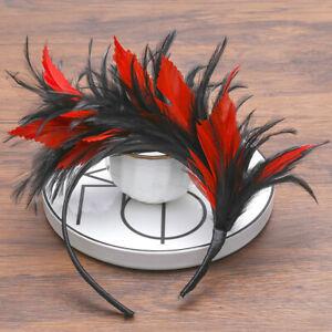 Women-039-s-Fascinators-Feather-Headband-Hippie-Hairband-Hair-Accessories-Tassels