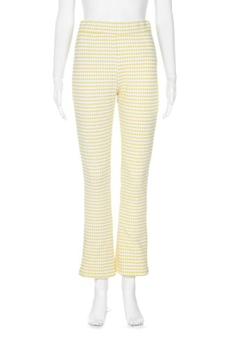 URBAN OUTFITTERS Check Pants Medium Yellow White … - image 1