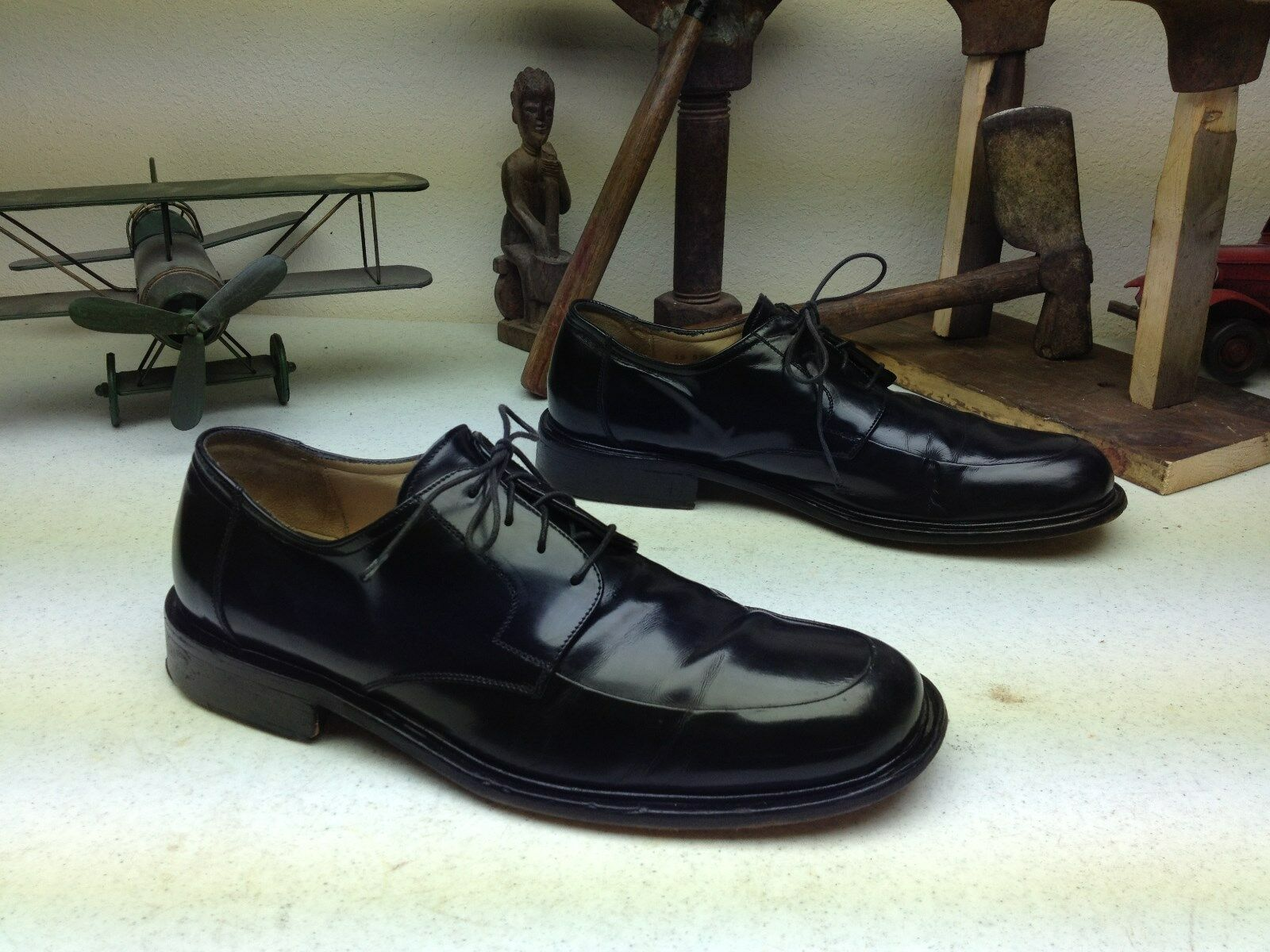 schwarz MADE LEATHER JOHNSTON MURPHY MADE schwarz IN ITALY LACE UP OXFORD BUSINESS schuhe 9.5 M bbebdb