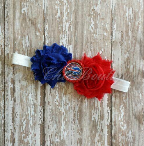 or adult sized headband bow toddler Buffalo Bills elastic infant