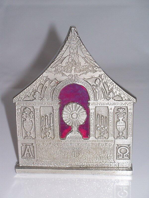 ZINN ZINN ZINN KRIPPE MIT GLAS 10,5 x 8,5 cm handgefertigt neu. Weihnachtskrippe Krippen cd7904