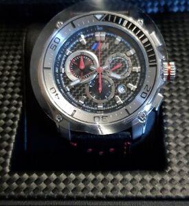 BMW-M-Watch-Carbon-Chronograph-schwarz-Stahl-80262359012-NEU-in-Geschenkbox