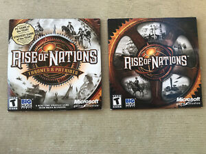 Lot of 2 PC Computer Games Rise of Nations & Rise of Nations Thrones & Patriots