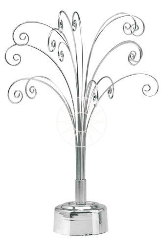 Fountain Tree Display Rotating Stand Jewellery Swarovski Suncatchers etc SILVER