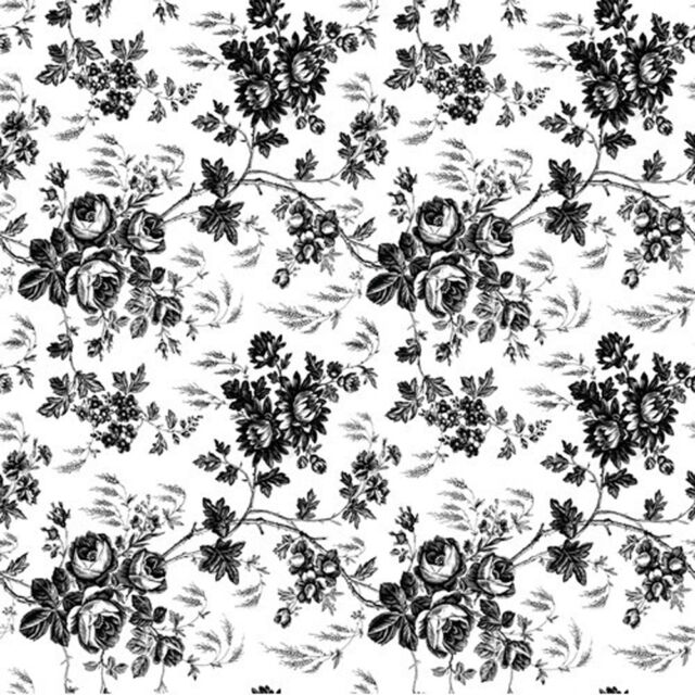 Black And White Flower Toile Contact Paper 4 5 Ft By 18 In By Kittrich Corporation