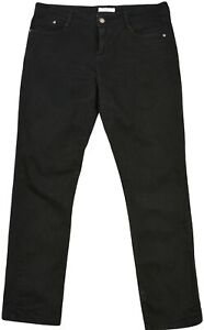 Yessica-Femmes-Coupe-Skinny-Jean-Taille-Moyenne-D42-Fonce-Laver-Noir-Authentique
