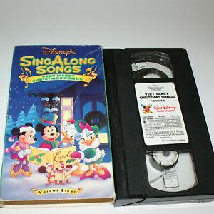 Very Merry Christmas Songs Disney Sing Along VHS Volume 8 12257657036   eBay
