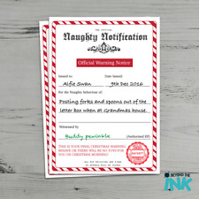 Item 5 Personalised Naughty List Christmas Certificate From Santa Clause Warning  Letter  Personalised Naughty List Christmas Certificate From Santa Clause  ...