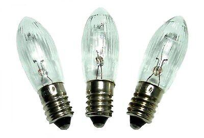 3W 34V 6x Riffelkerze für Schwippbögen mit 7 Lampen mit E10 Schraubgewinde