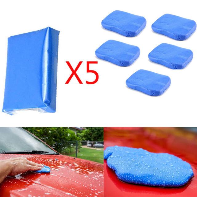 Car/ Auto Magic Clean Clay Bar Detailing Wash Sludge Mud Remove Blue 5pcs Home