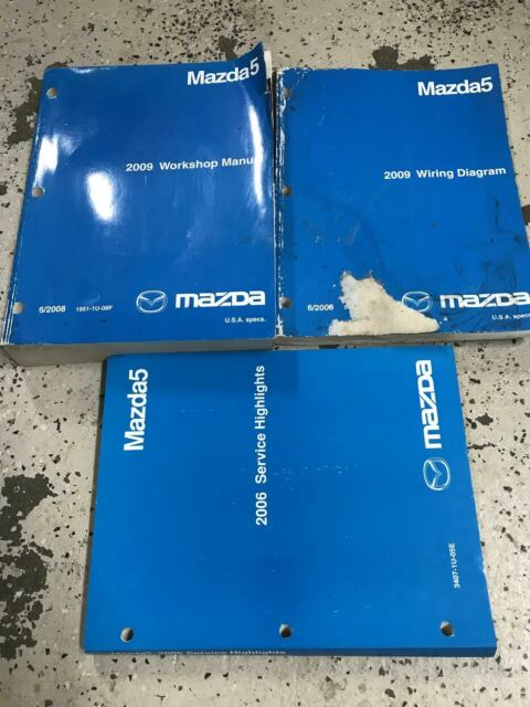 2009 Mazda5 Mazda 5 Service Repair Shop Manual Set W Ewd Highlights Oem Worn