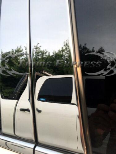 fit:2009-2013 Kia Soul 8Pc Pillar Post Stainless Steel Trim Door Cover