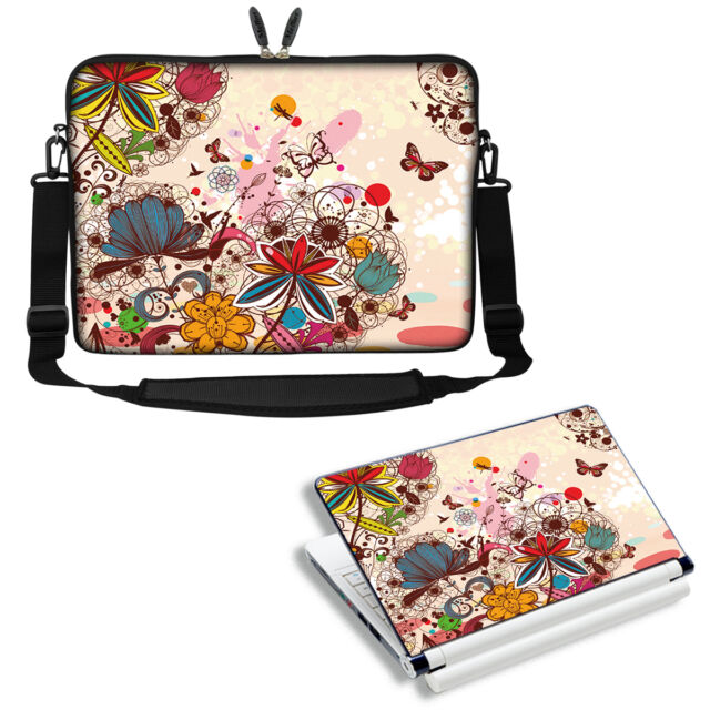 """15.6/"""" Laptop Sleeve Bag Case w Shoulder Strap HP Dell Asus Acer Love Birds SP44"""