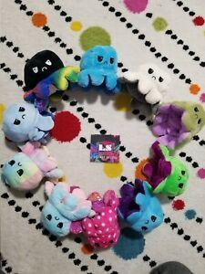 SAME DAY SHIP TeeTurtle double-sided flip reversible happy/sad octopus plush toy
