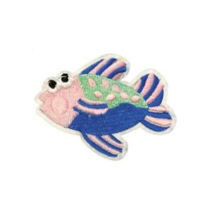 Colourful-Fish-Iron-On-Embroidery-Applique-Patch-Sew-Iron-Badge