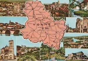AK MAP, Landkarte, Umgebungskarte **YONNE** - Oberfranken, Deutschland - AK MAP, Landkarte, Umgebungskarte **YONNE** - Oberfranken, Deutschland