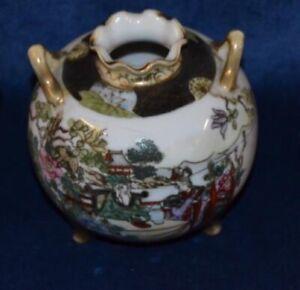 Rare Antique  Noritake Twin Handle Pot