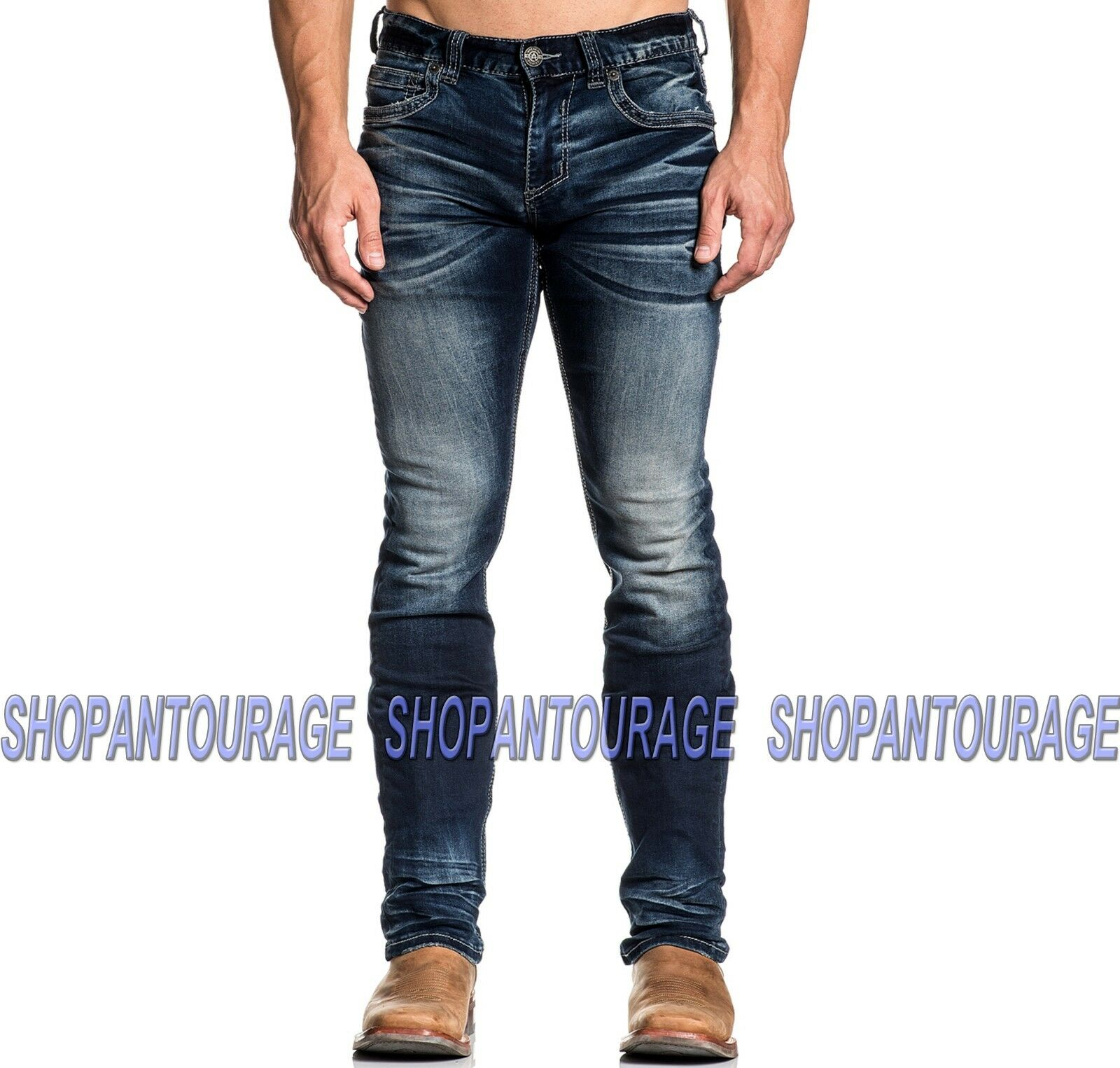 American Fighter Legend Freedom Kane 331SS187 Men`s New Slim Straight Denim