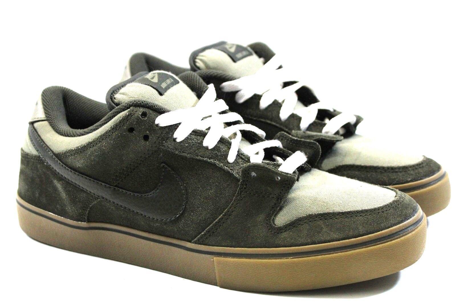 another chance f690e 1cf22 Nike Dunk Low LR LR LR Men Size 10 OG 487925 333 Skate Green Olive Gum