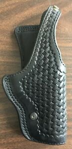 1992-HOYT-Coupeville-WA-S-L-O-P-D-Basketweave-Leather-Holster-Fits-S-amp-W-5926