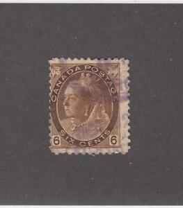 CANADA-MK4467-80-F-USED-6cts-QV-NUMERAL-PURPLE-CANCEL-CAT-VALUE-30