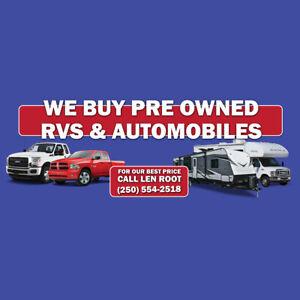 BUTLER AUTO & RV CENTRE KAMLOOPS WE BUY USED RV'S & AUTOMOBILES