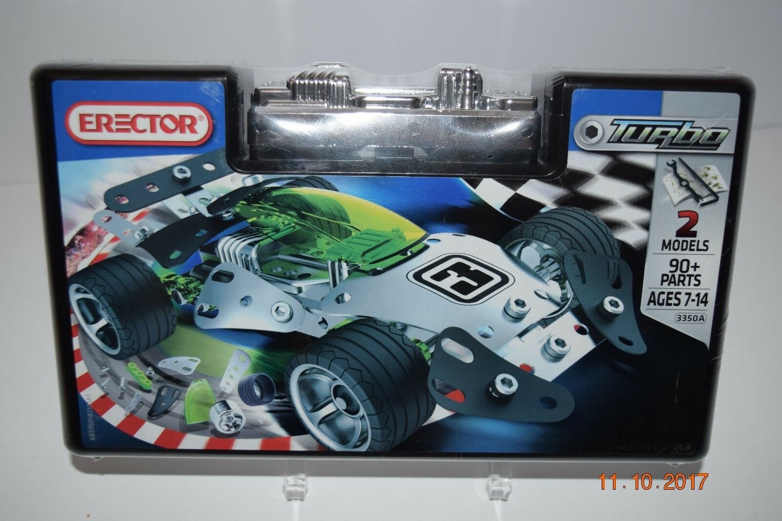 ERECTOR TURBO 2 Models Models Models - 90 Parts - Meccano- A -Sealed  NEW 317b21