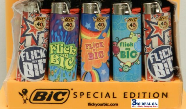 Bic Lighters  20 Count Flick My Bic Regular big Size Lighters Disposable Plastic