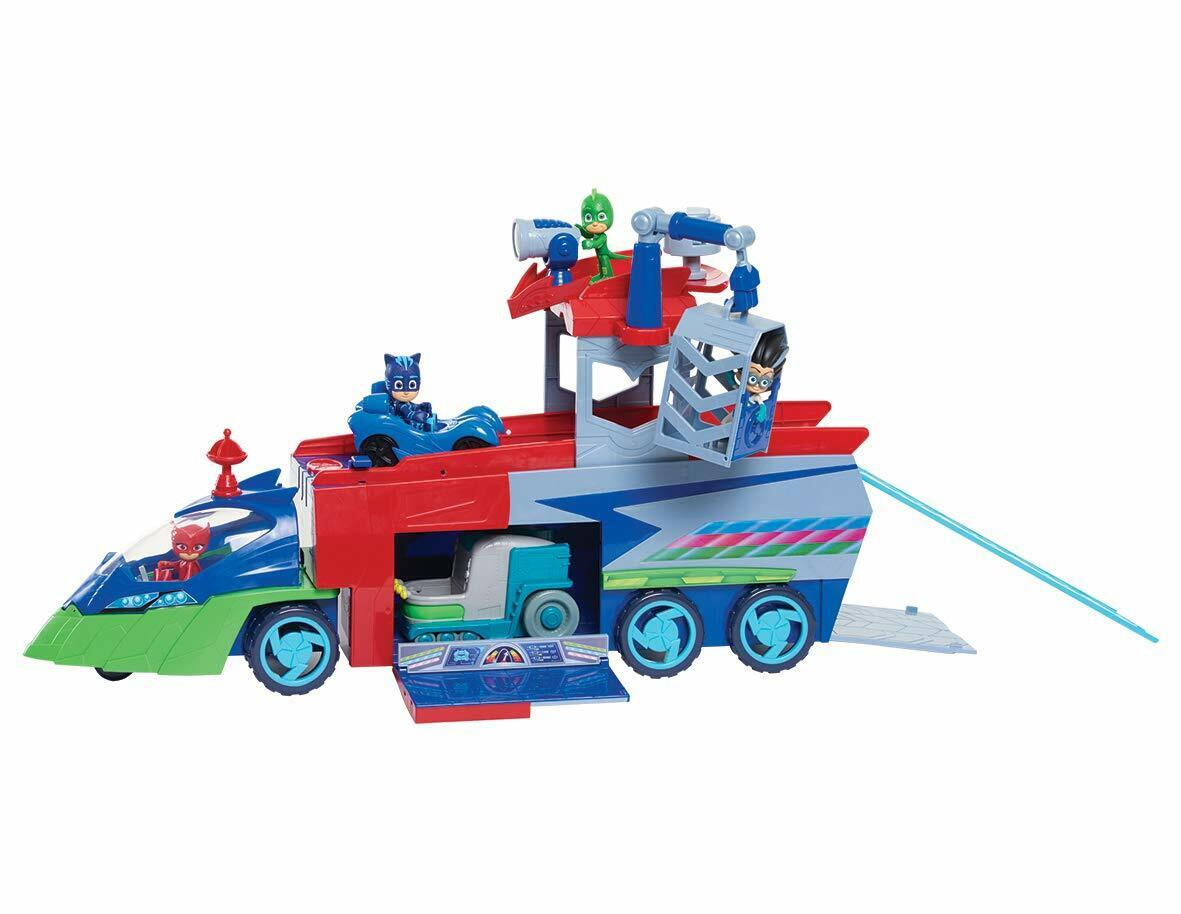 PJ Masks PJ Seeker Truck Cabin, Trailer, Claw Crane, Cage, Catboy, mini Cat-Car