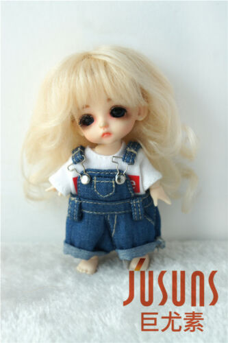 Jusuns Tiny Size 3-4inch BJD Wigs Princess Long Curly Mohair Doll Wigs 5 Colors